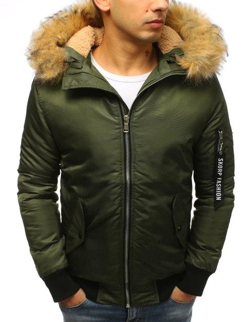Siiuomo.it - Bomber verde invernale da uomo con cappuccio staccabile -  Dstreet - Giubbotti invernali - Giubbotti 55d1f18c4b7