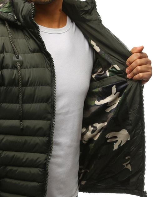 Siiuomo.it - Giubbotto da uomo con cappuccio colore verde scuro per  autunno inverno - Dstreet - Giubbotti invernali - Giubbotti 3e930dc1da6