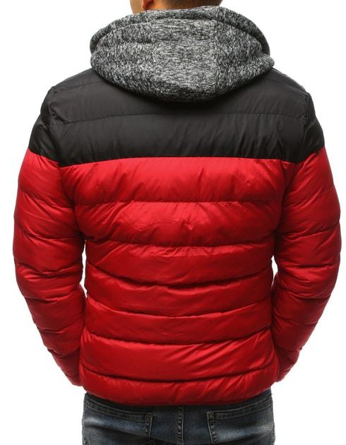 Siiuomo.it - Trendy giubbotto invernale rosso con cappuccio felpato  staccabile - Dstreet - Giubbotti invernali - Giubbotti ea0ae7ac56b