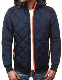 Disponibile Giacca sportiva blu scura in stile bomber da uomo OZONEE  JS TY10 ... a74e7e50b54