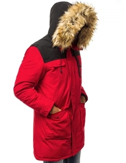 Disponibile Parka rossa invernale OZONEE JS HS201816 da uomo Parka rossa  invernale OZONEE JS HS201816 da uomo eee42ec6610