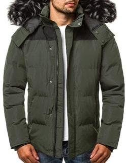 Disponibile Giacca uomo invernale di stile colore verde OZONEE JS HS201820  ... 78f1d639b99