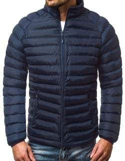 Disponibile Giacca blu scura sportiva trapuntata da uomo OZONEE JS SM53 ... f6d3ec02f58