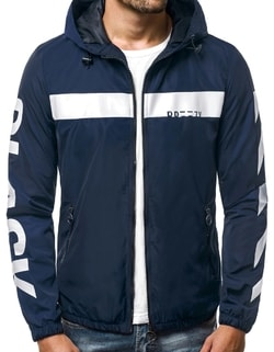 Disponibile Giacca sportiva blu bianca da uomo OZONEE B 593 ... abb7eb918dd