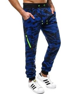 Disponibile Pantaloni di tuta blu da uomo nel stile mimetico OZONEE  JS 55025 ... f0e1184190c
