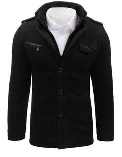 -55% Disponibile Cappotto nero monopetto da uomo ... afe045274b7