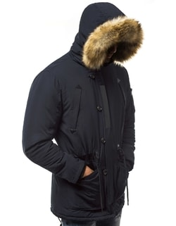 Siiuomo.it - Giacca nera invernale trapuntata da uomo OZONEE JS ... 8fe0303c745