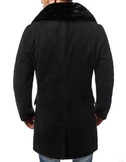 ... Cappotto nero alla moda con pelliccia OZONEE O 88872 af496f466c6