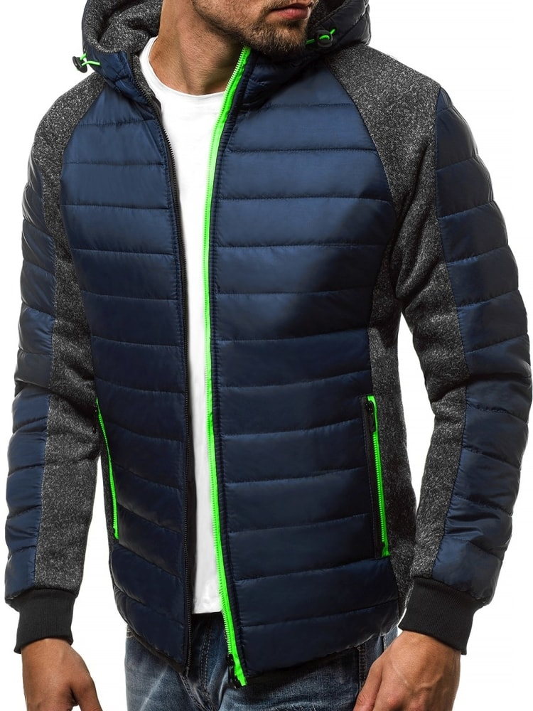 Siiuomo.it - Trendy giacca blu trapuntata con cappuccio J.STYLE TY08 ... 0c788081cf9