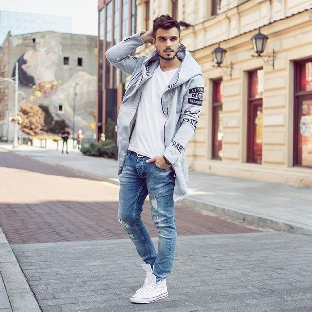 online store 53136 90601 Siiuomo.it - Felpa allungata alla moda da uomo J.STYLE X2036 ...