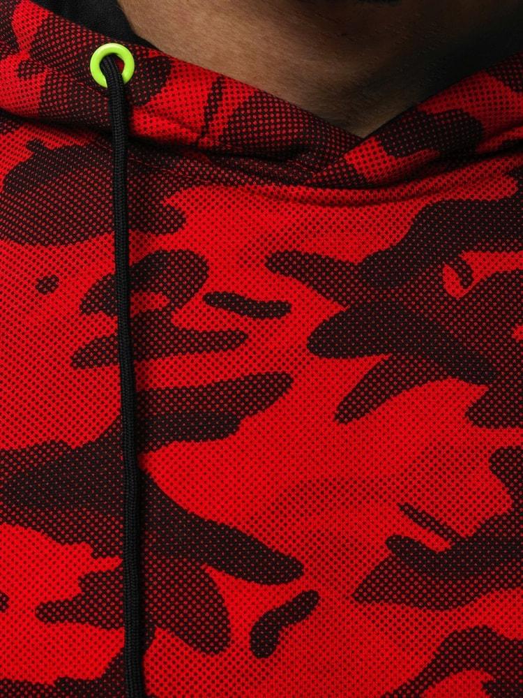 Siiuomo.it - Felpa moderna rossa nera mimetica con cappuccio OZONEE ... 010d32b578c