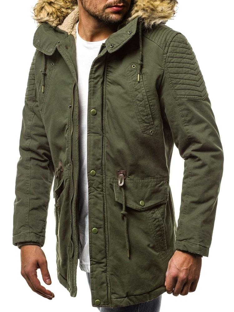 Siiuomo.it - Trendy parka da uomo colore verde OZONEE JS 5810 ... c14fce5b11b