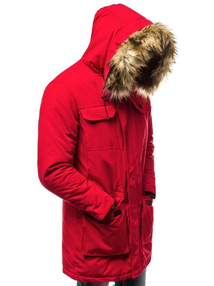 Siiuomo.it - Parka uomo invernale alla moda colore rosso OZONEE JS ... 30af81e5f3b
