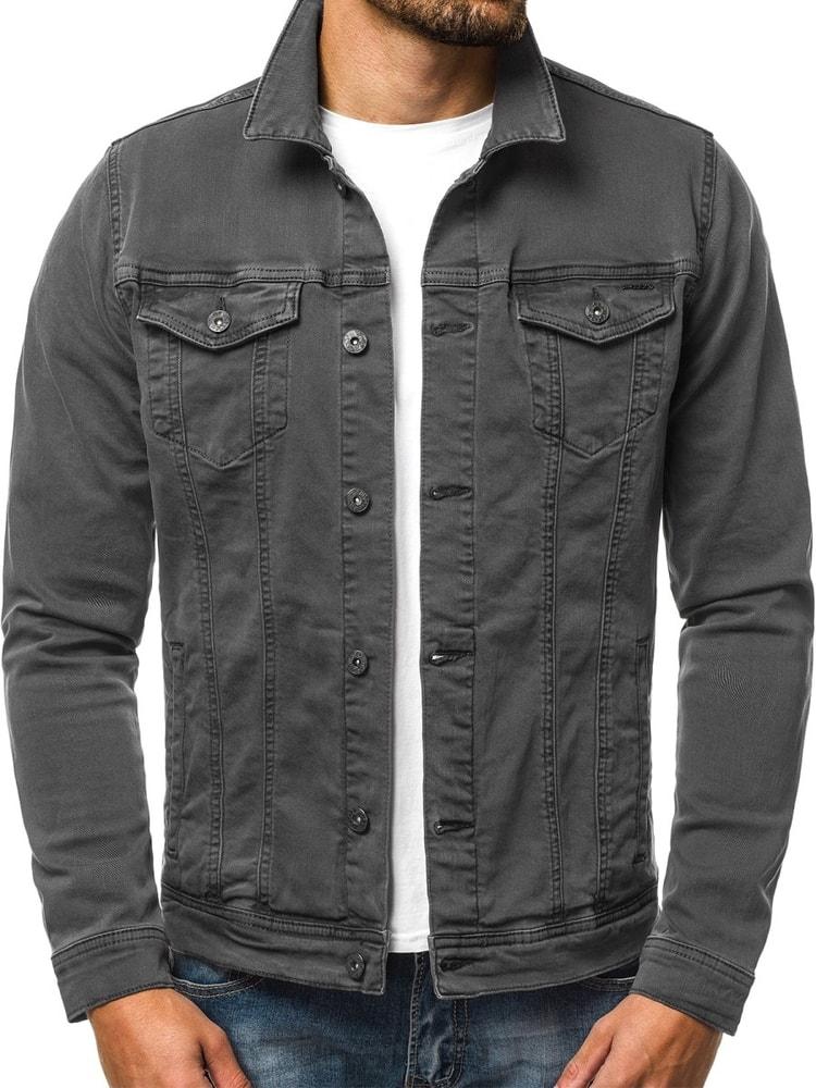 Siiuomo.it - Giacca di jeans moderna da uomo colore grigio scuro ... f63bb50efb1