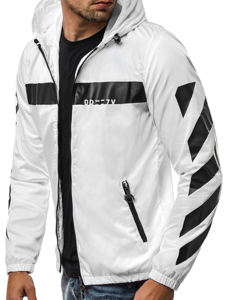 Siiuomo.it - Giacca sportiva bianca nera da uomo OZONEE B 593 ... a447a3d8ead