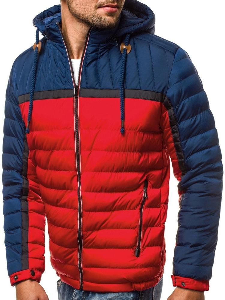 Siiuomo.it - Trendy giubbotto trapuntato invernale rosso blu OZONEE ... 0823ac8cfea