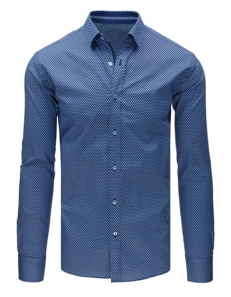 the best attitude 92e21 2d62a Siiuomo.it - Camicia blu da uomo taglio slim fit alla moda ...