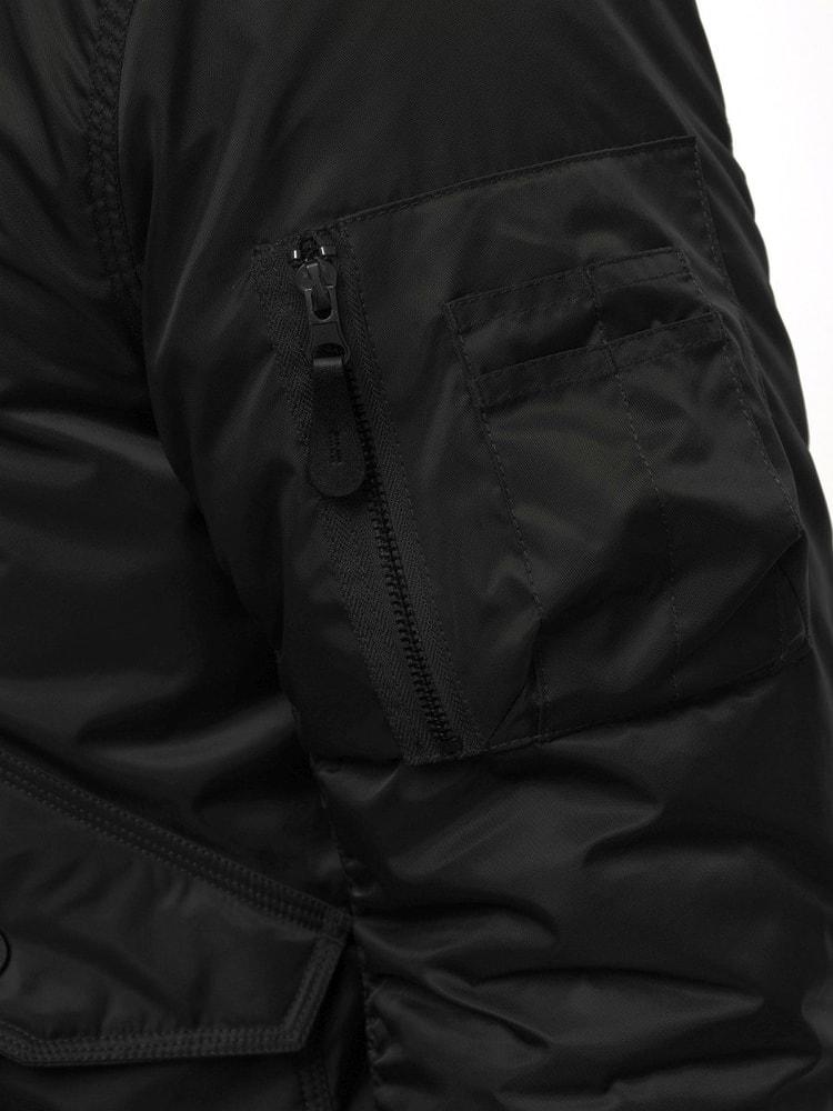 Siiuomo.it - Bomber nero invernale da uomo con cappuccio staccabile ... 9cc05464d28