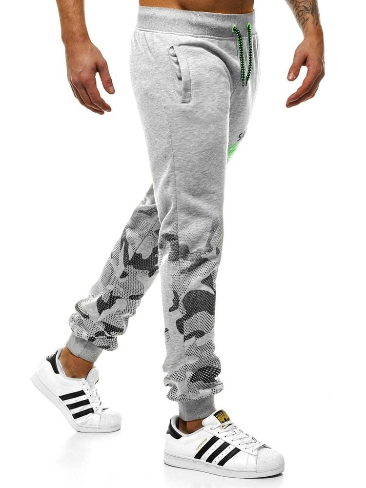 Siiuomo.it - Trendy pantaloni di tuta da uomo colore grigio chiaro ... e9e609b9b62