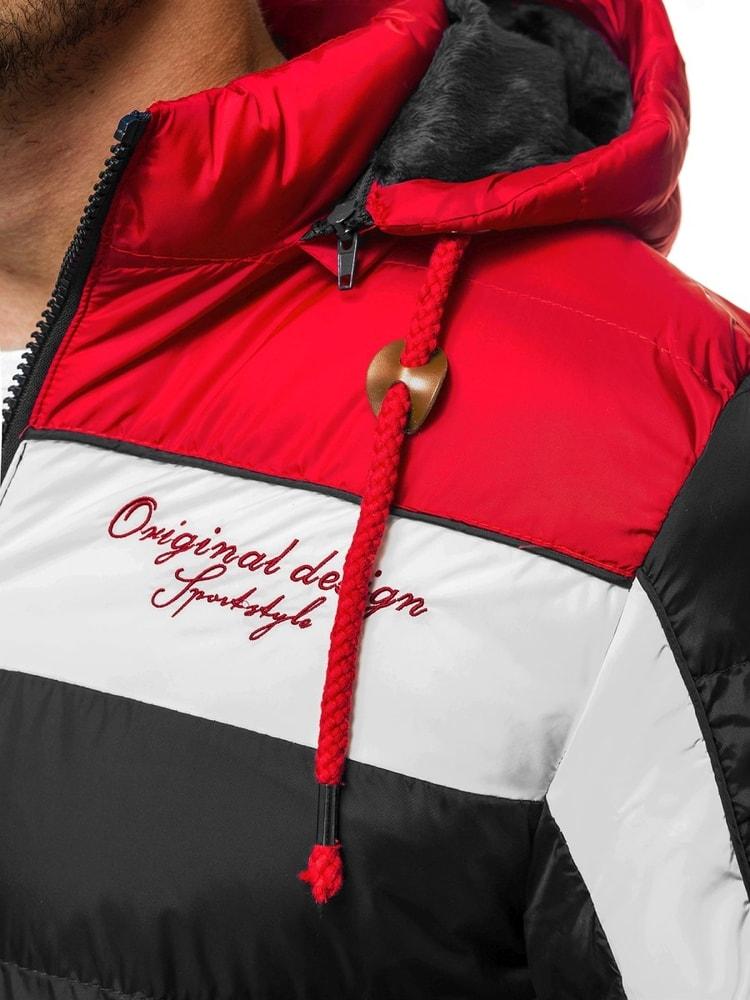 Siiuomo.it - Giubbotto nero rosso invernale sportivo da uomo OZONEE ... 9182df27473