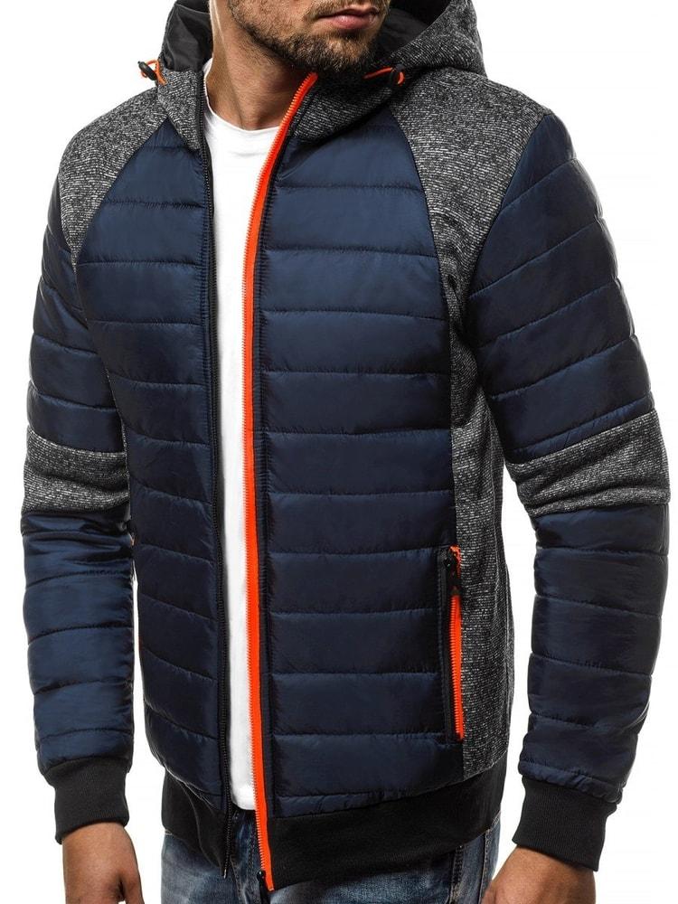 Siiuomo.it - Giacca invernale blu sportiva nel stile moderno OZONEE ... b5aeefa4b12