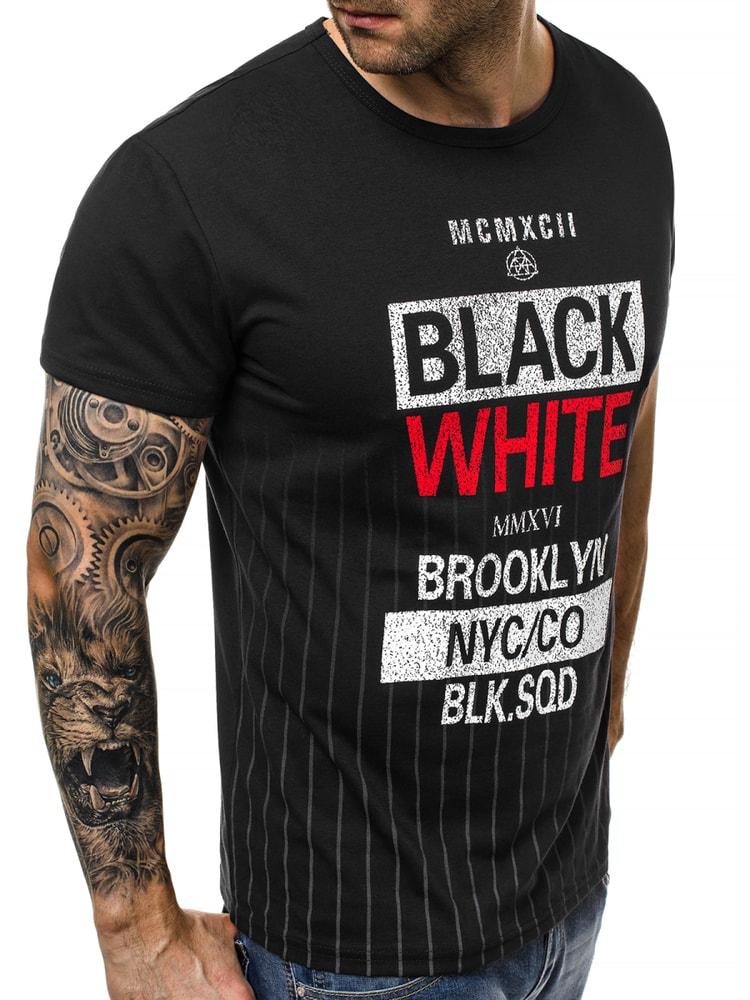 low priced a4b38 882e0 Siiuomo.it - Maglietta manica lunga nera da uomo OZONEE JS ...